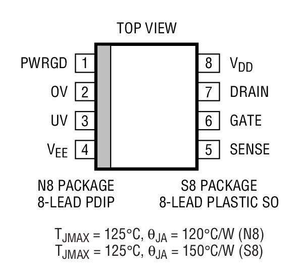 LT1640A Package Drawing