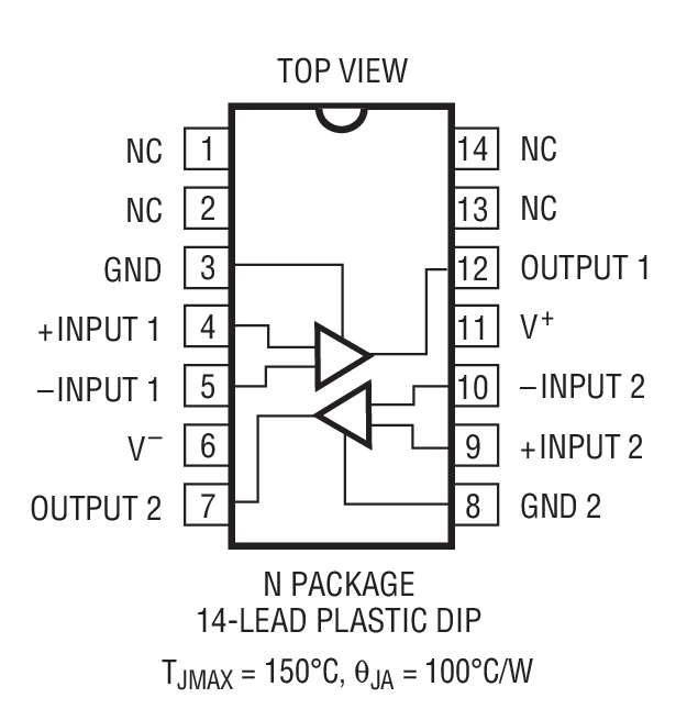 lm119 - 双通道比较器