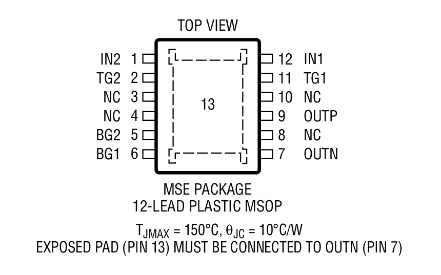 LT4320 Package Drawing