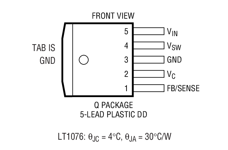 LT1074 Package Drawing