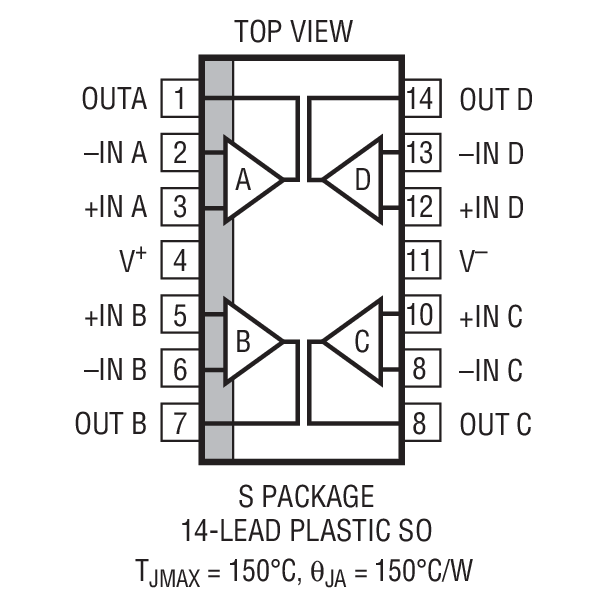 LT1498 Package Drawing