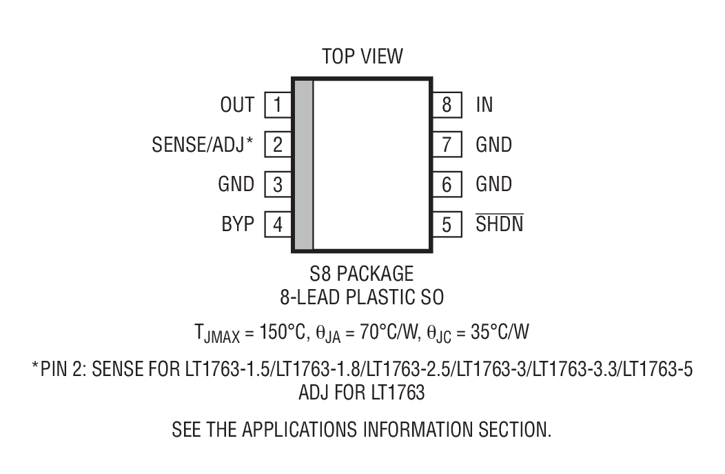LT1763 Package Drawing