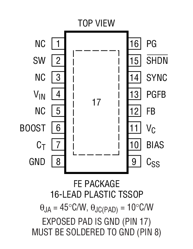 LT1976 Package Drawing