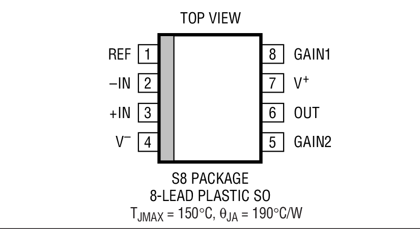 LT1990 Package Drawing