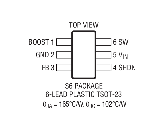 LT1933 Package Drawing