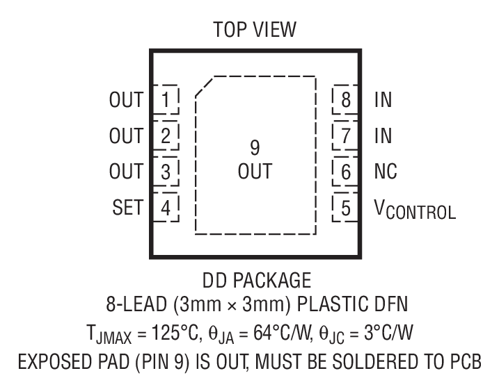LT3080 Package Drawing