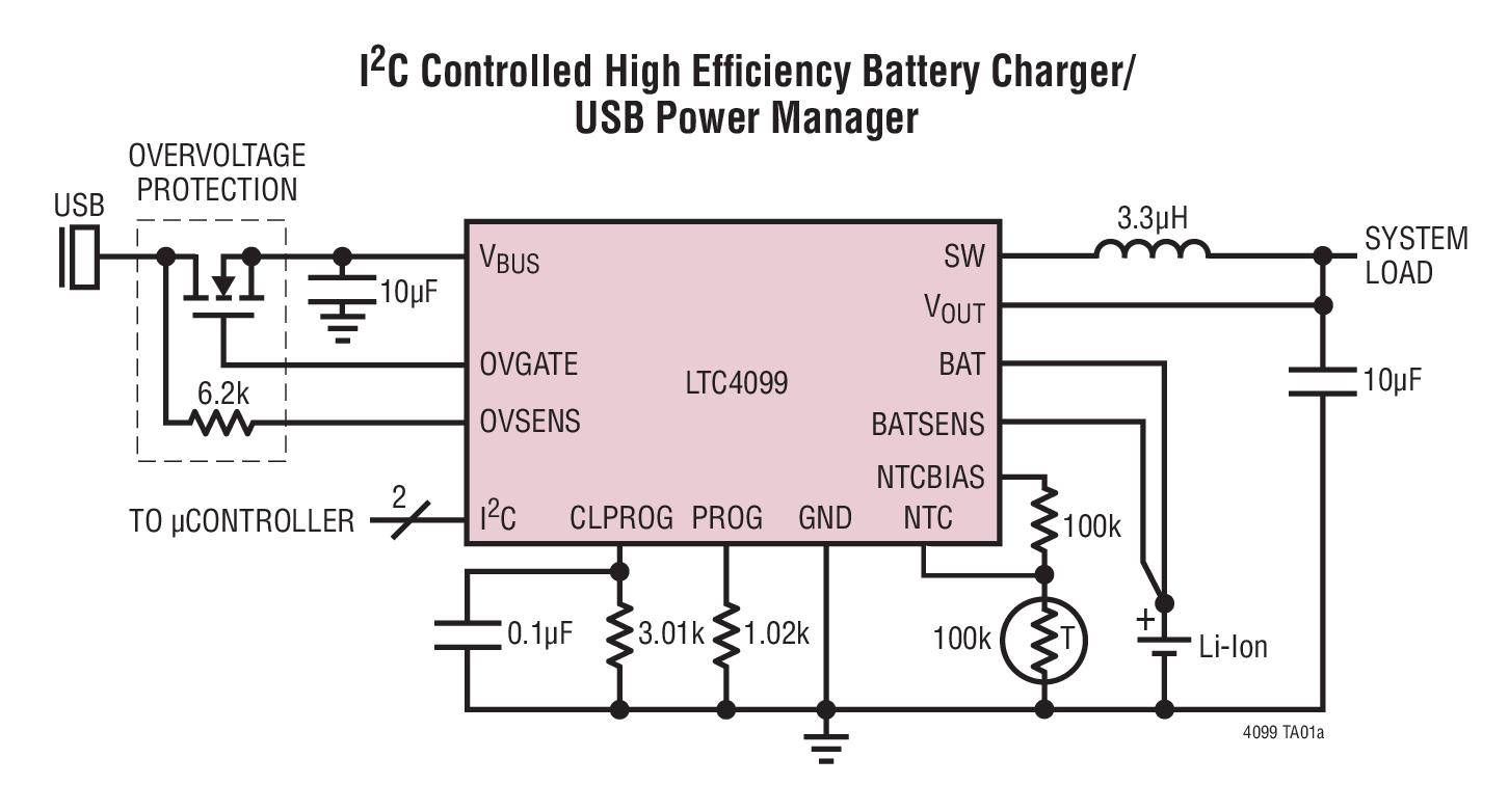 5a 最大充电电流 转换速率控制降低了开关 emi 20 引脚 3mm x 4mm x