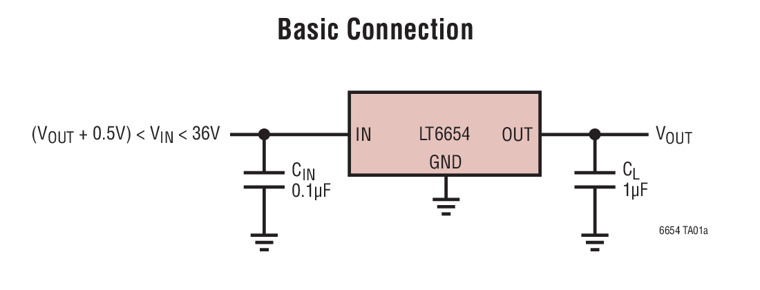 LT6654 Typical Application