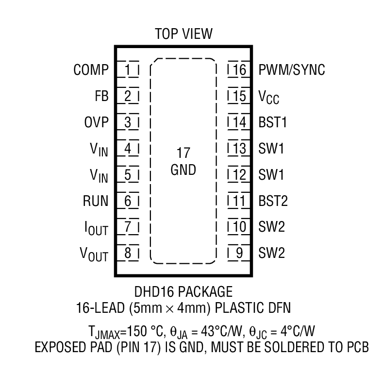 LTC3112 Package Drawing