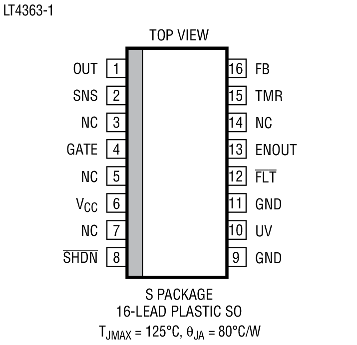 LT4363 Package Drawing